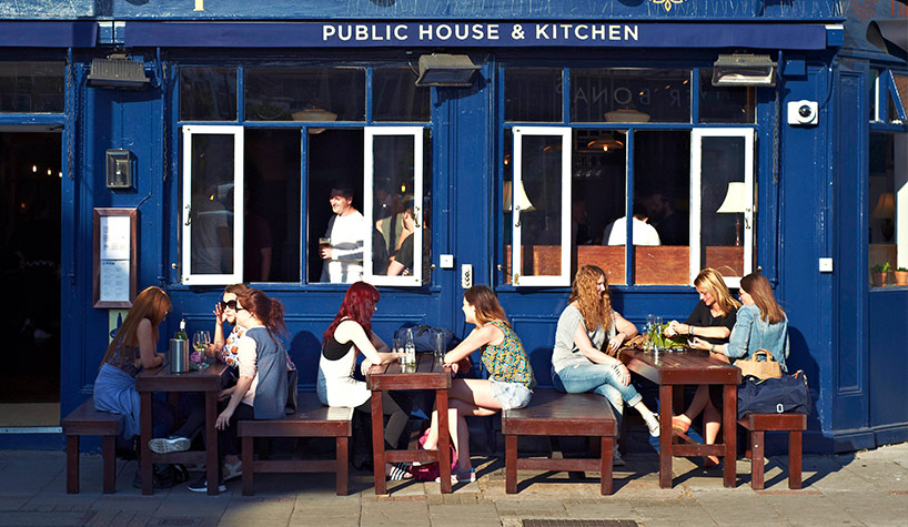 Outside The Bishop, East Dulwich